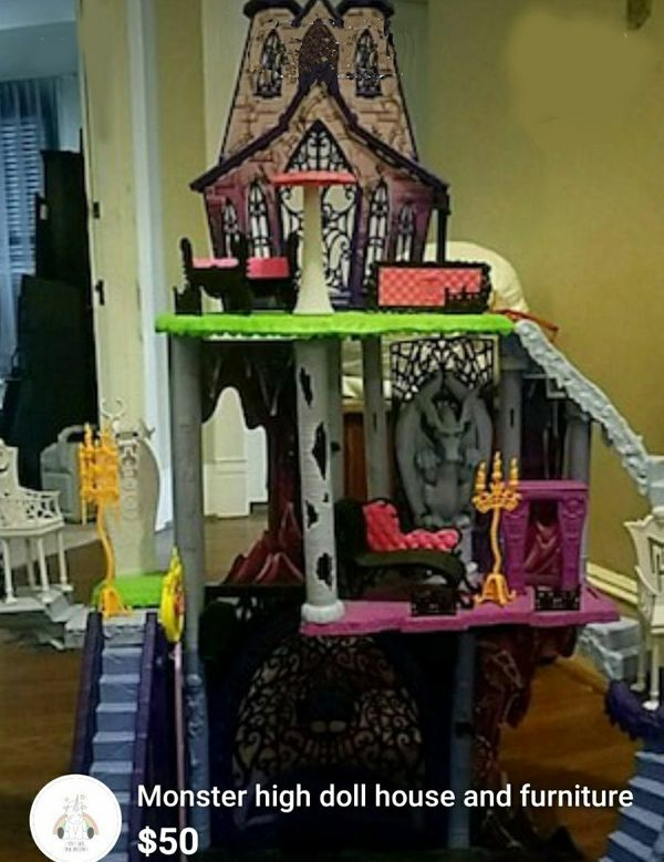 Monster High Doll House With Furniture For Sale In Chesapeake Va