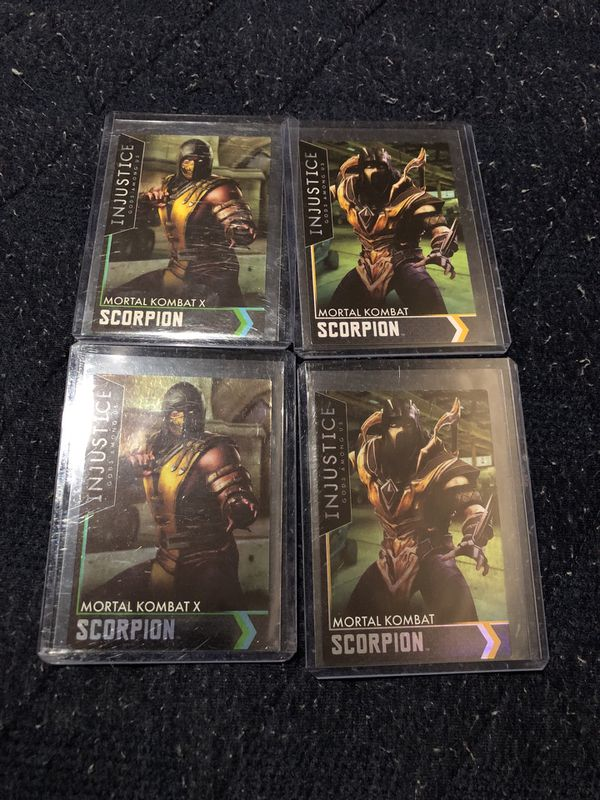 Mortal kombat x injustice 2 scorpion trading cards for Sale in National  City, CA - OfferUp