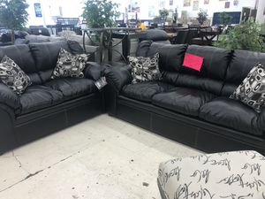 BONDED LEATHER LIVING ROOM SET SOFA AND LOVESEAT ON SALE for Sale in Hyattsville, MD