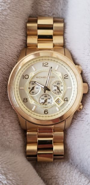 MICHAEL KORS GOLD UNISEX RUNWAY WATCH for Sale in Reston, VA