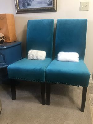 Teal blue accent/dining chairs for Sale in Purcellville, VA