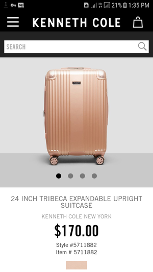 Kenneth Cole Expandable Upright Luggage w/TSA lock rosegold for Sale in West New York, NJ