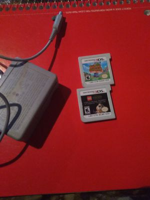 Nintendo 3ds charger&games&case for sale  Claremore, OK