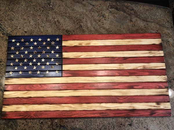 Wooden American Flag Very Nice 36x19x2 Americana For Sale In San Jose Ca Offerup