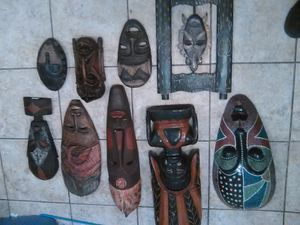 African and Indonesian mask collection for Sale in Phoenix, AZ