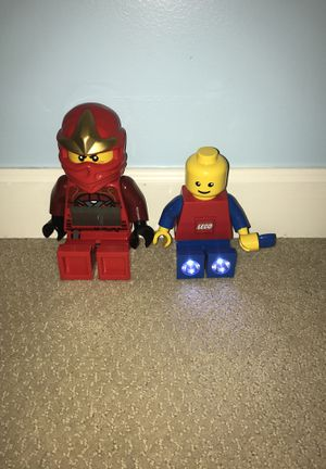 LEGO ninja red clock and LEGO man flash light for Sale in Point of Rocks, MD