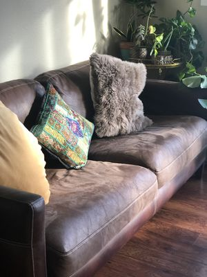 Brown cozy couch - $80 for Sale in Seattle, WA