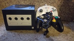 Black Gamecube with controllers for Sale in Washington, DC
