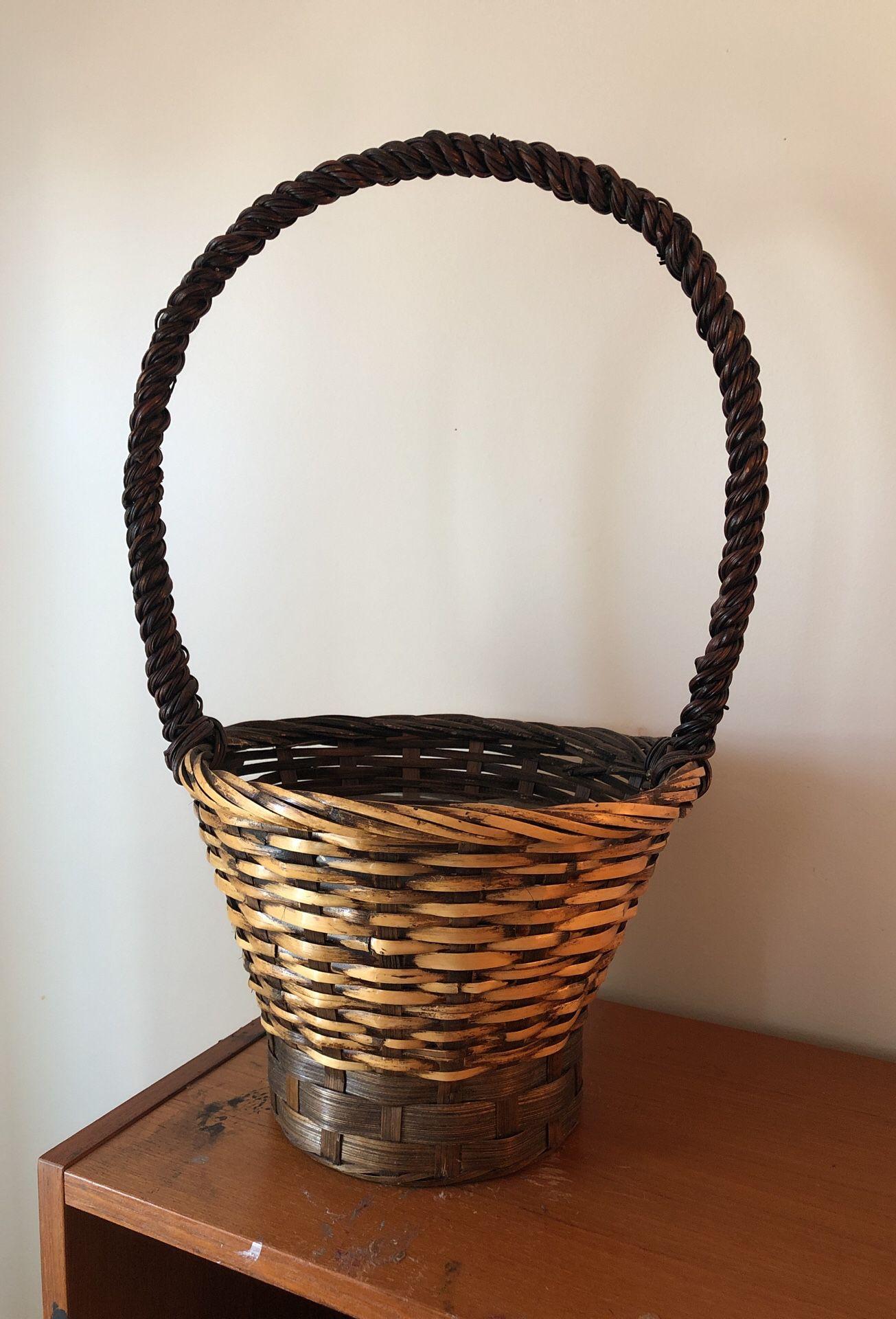 Planter wicker basket