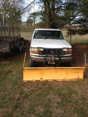 Ford pickup and snow plow for Sale in Millersville, MD