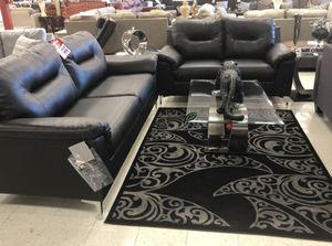 Photo Brand 🆕️ in the Box - $39 DOWN Tensas Black Living Room Set 849