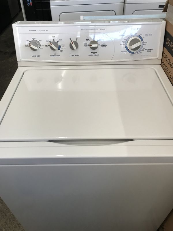 Used, Kitchen Aid top load washer, heavy duty , super ...