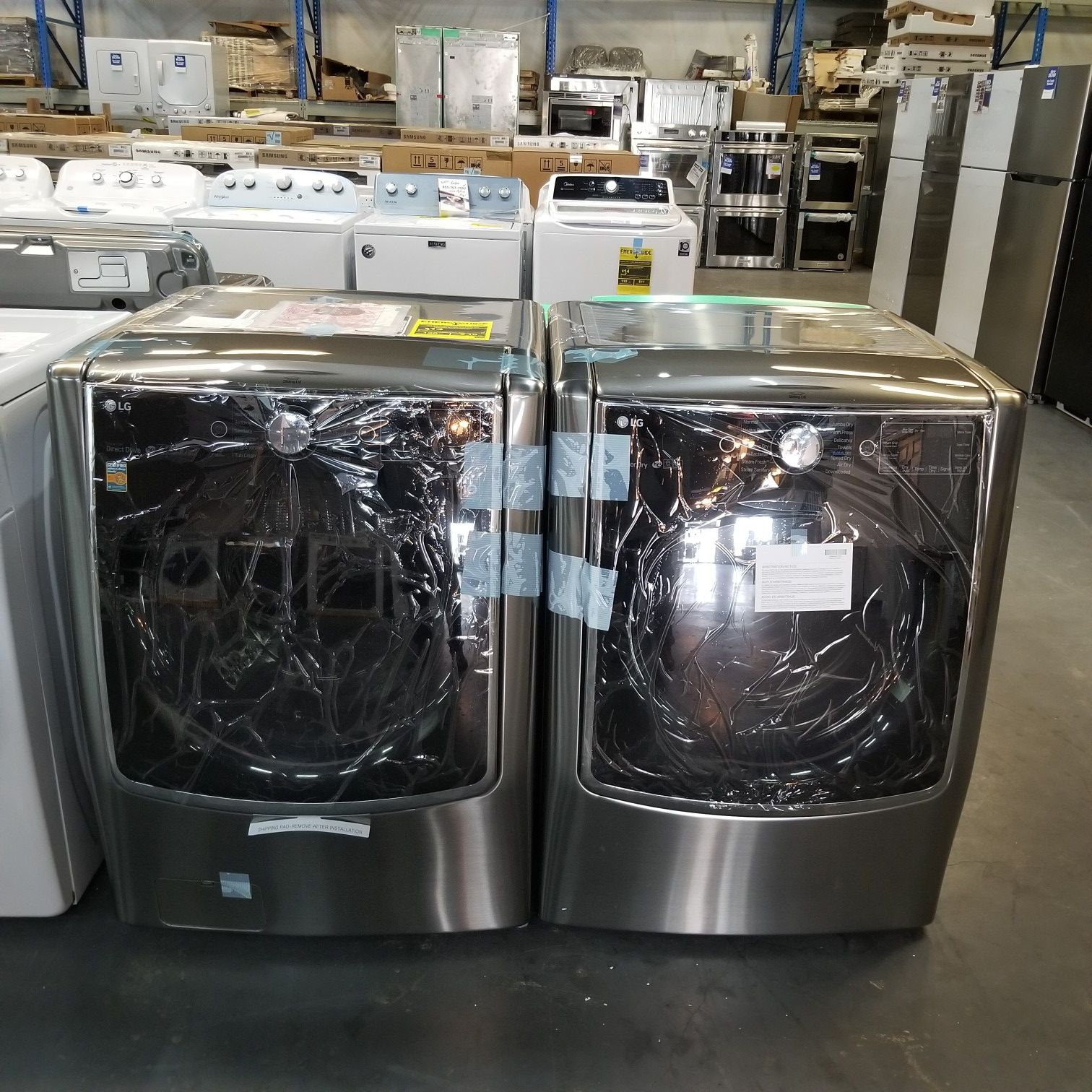 Set Washer and Dryer Stainless LG Signature