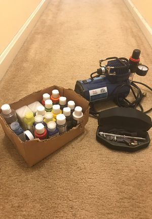 Professional Airbrush Kit with Compressor for Sale in Fairfax, VA