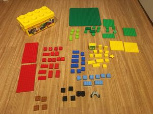 Assorted LEGOS- more than 80 Pieces - plus legos storage container for Sale in Elgin, IL