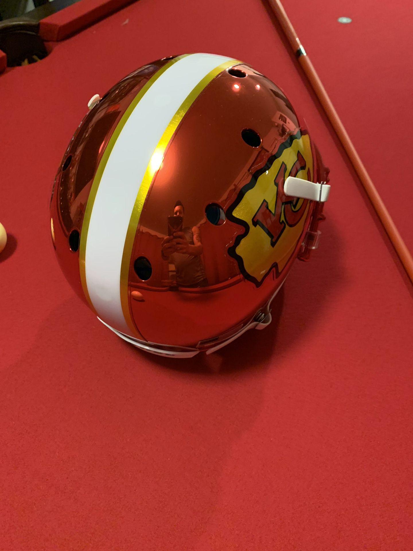 Kareem Hunt Autographed Chrome Full Size Helmet
