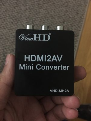 HDMI to Av converter hook up ps4 to old tv for Sale in Herndon, VA