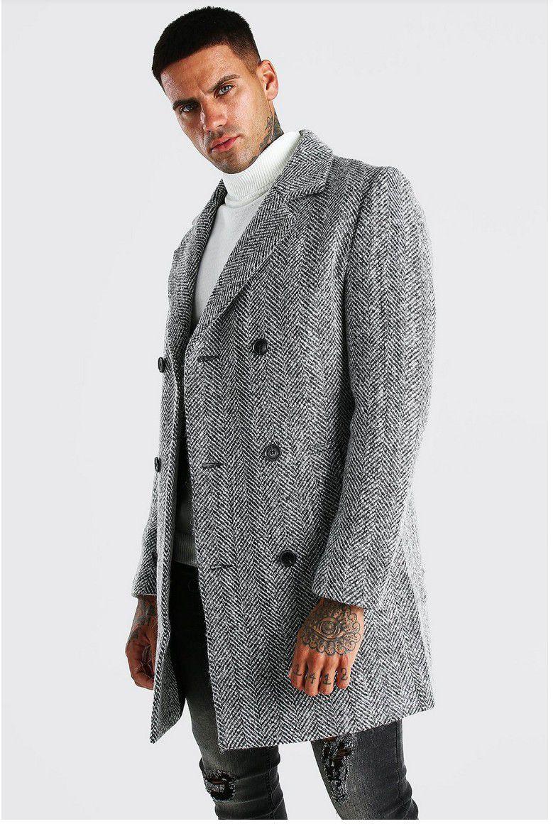 Express Men's Overcoat Wool Trench Coat Jacket