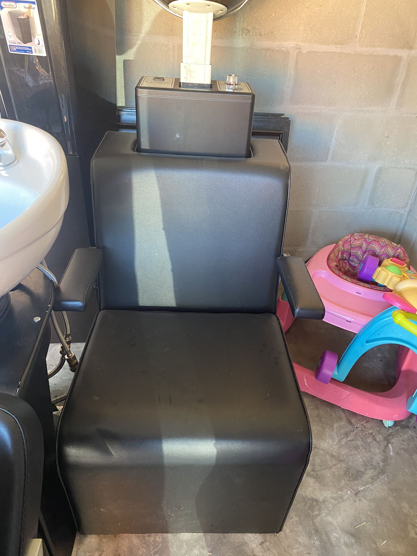 Chair and dryer included
