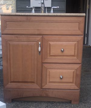 30 inch bathroom vanity with faucet for Sale in San Jose, CA