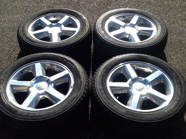 20 Inch Chevy Tahoe Ltz Wheels And Tires 6lug 6x5 5 Or 139 7mm
