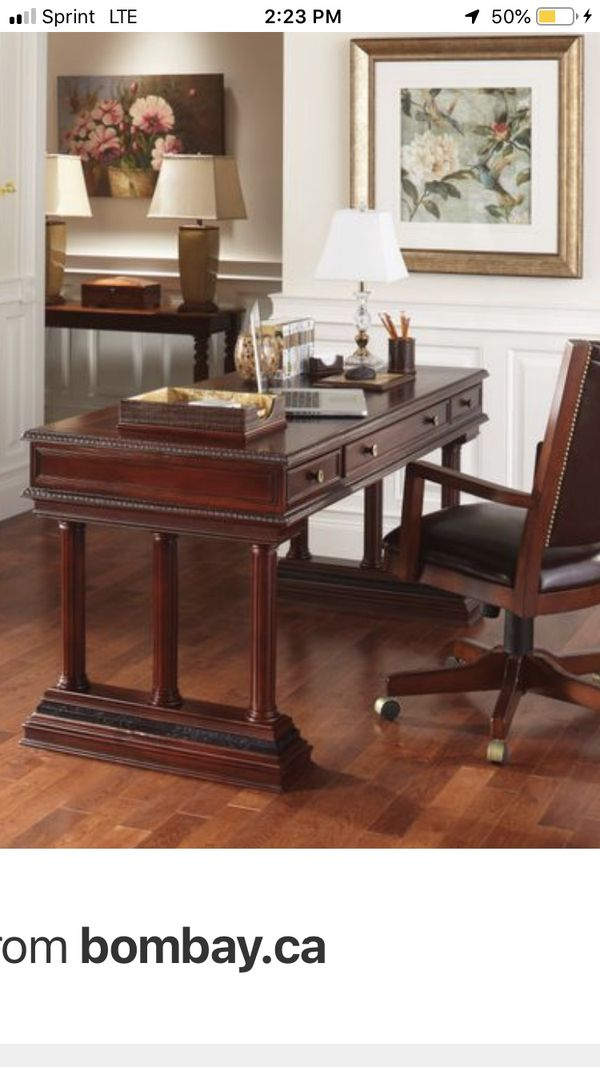 Desk With Drawers Real Wood Bombay Furniture Richmond Desk For