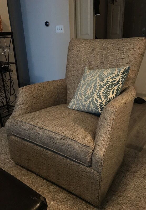 Stupendous Grey Swivel Rocker Chair From Arhaus For Sale In Columbus Oh Offerup Onthecornerstone Fun Painted Chair Ideas Images Onthecornerstoneorg