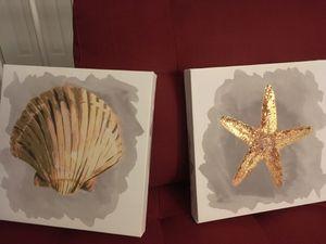 Seashell wall art (canvas) for Sale in Springfield, VA