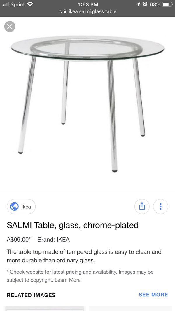 "new concept 64eaa 0c161 IKEA ""Salmi"" glass dining table for Sale in Miami Gardens, FL - OfferUp"