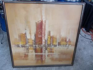 Vintage Danvers Modernistic Abstract Oil Painting for Sale in Martinsburg, WV