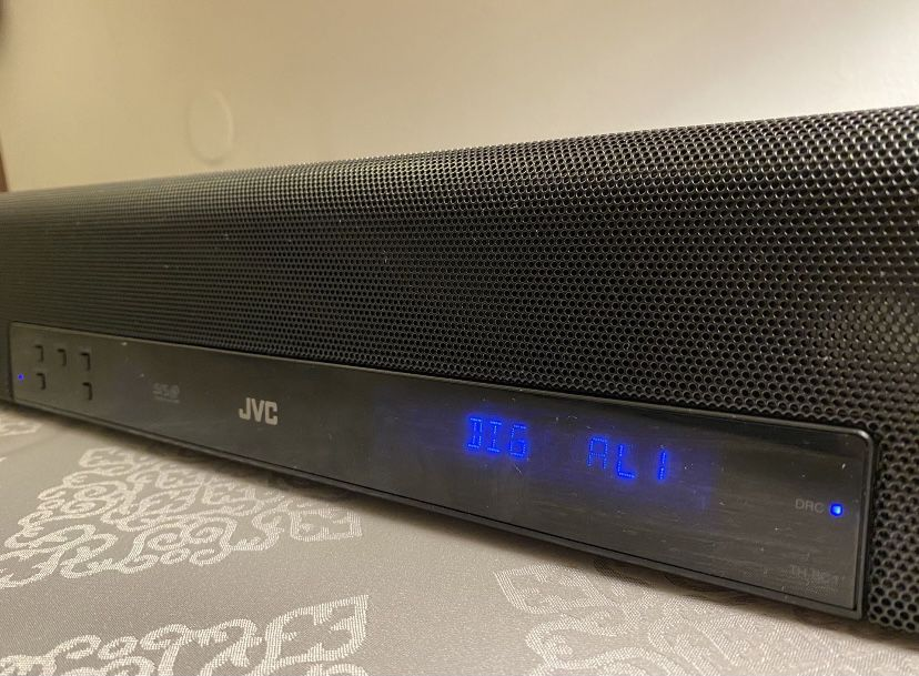 JVC SOUND BAR FOR HOME THEATER/GAMING:  WITH SURROUND SOUND MODE AND SUBWOOFER PRE-OUT!