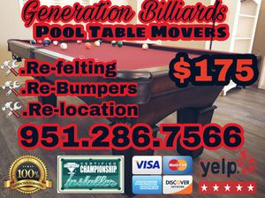 Pool Table Movers For Sale In Perris CA OfferUp - Pool table movers corona ca