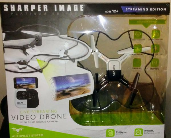 Sharper Image Live Streaming Video Drone Platinum Series Lunar Model