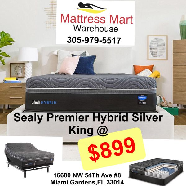 Sealy Premier Hybrid Silver Chill Mattress With Posturepedic Technology King Size