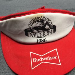 Vintage Budweiser Visor Hat Thumbnail