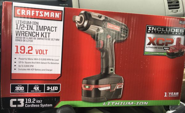 Craftsman C3 1 2 Heavy Duty 19 2v Cordless Impact Wrench Kit For In Chester Va Offerup