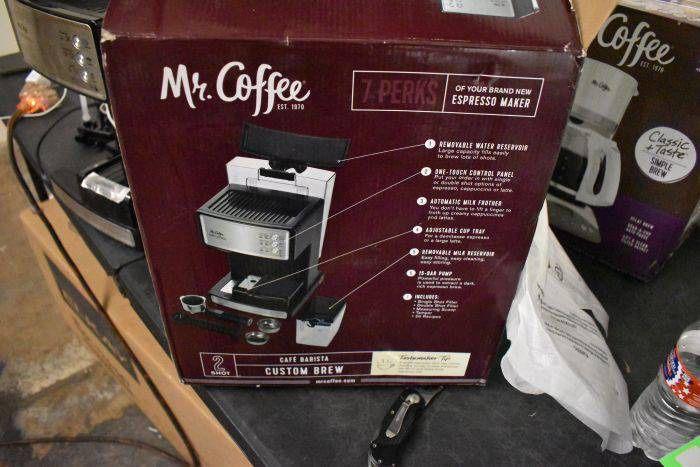 Mr. Coffee Espresso and Cappuccino Maker   Caf? Barista , Silver