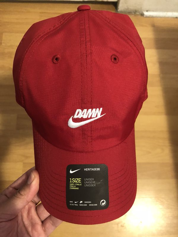 d9e6451e Nike x TDE red DAMN hat Kendrick Lamar for Sale in Los Angeles, CA - OfferUp