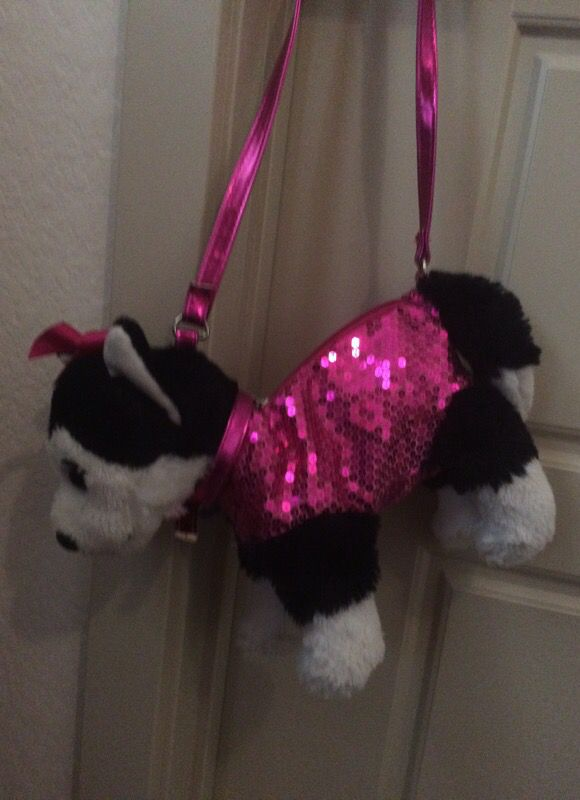 Pink Sparkly Dog Purse