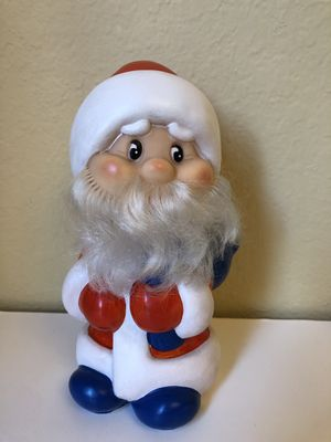 Vintage USSR rubber Toy Ded moroz Santa Claus for Sale in Claremont, CA