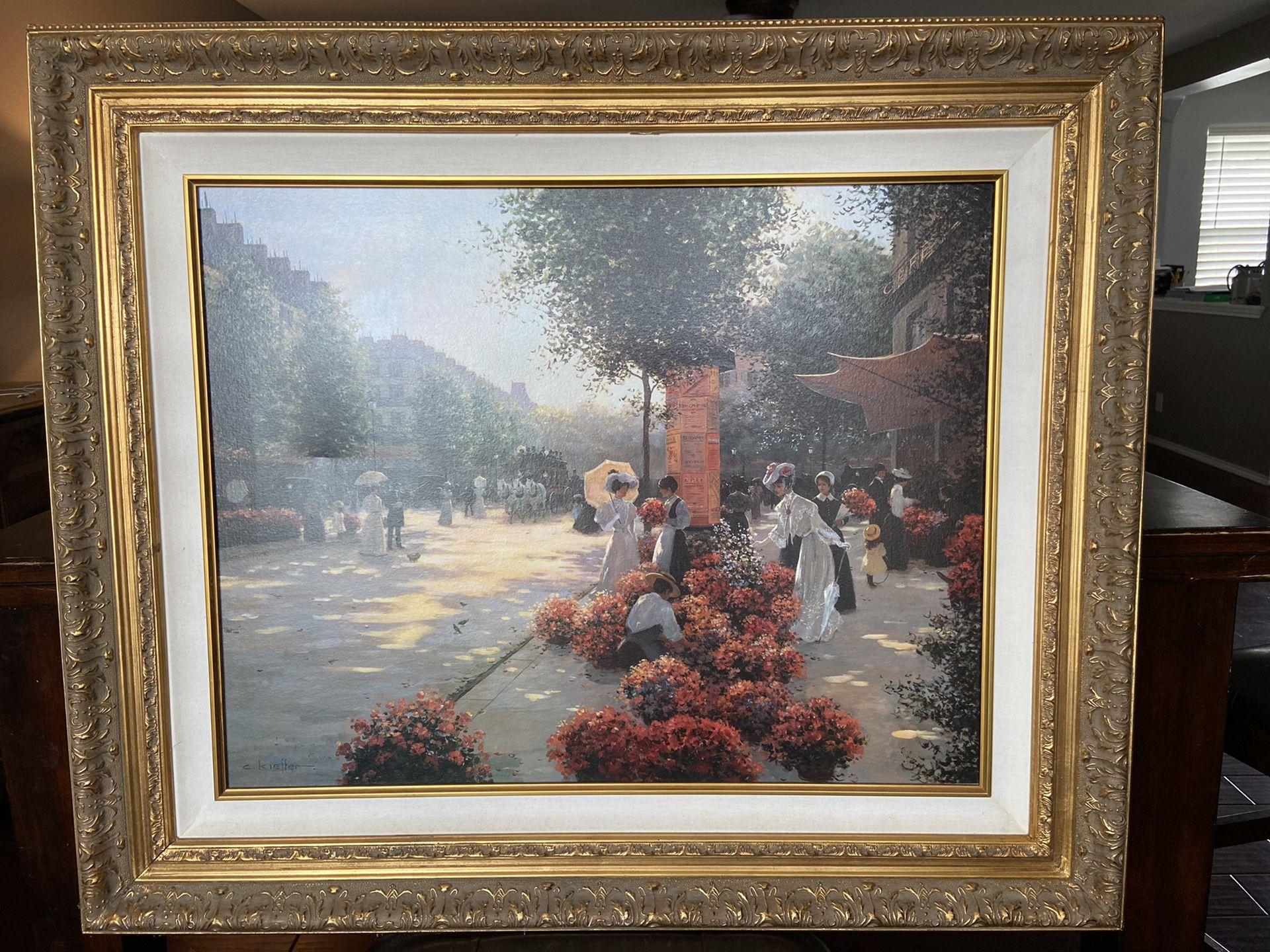 Christa Kiefer oil painting on canvas