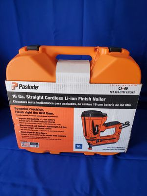 Photo Paslode 16GA Straight Cordless Finish Nailer !!!!