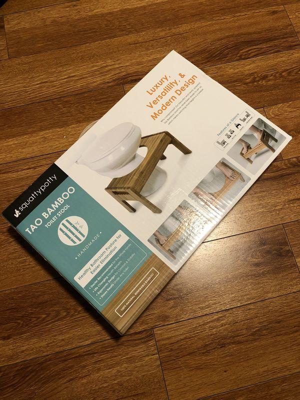 Enjoyable Luxury Squatty Potty Tao Bamboo 7 9 Adjustable Height Evergreenethics Interior Chair Design Evergreenethicsorg