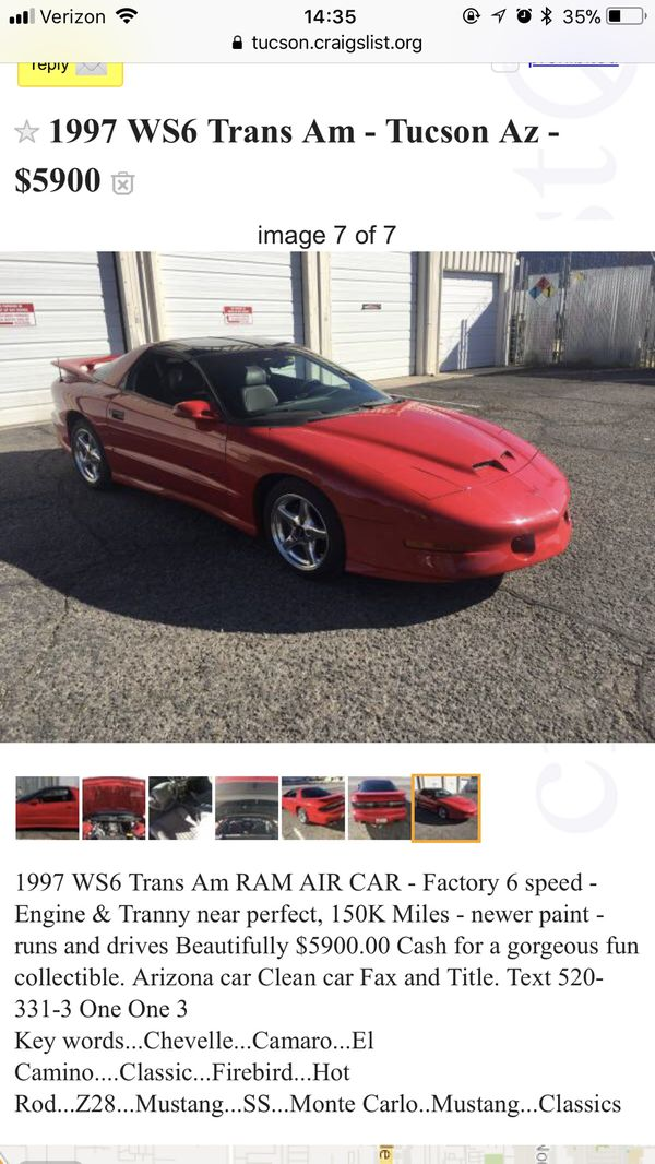 Trans Am For Sale In Tucson Az Offerup