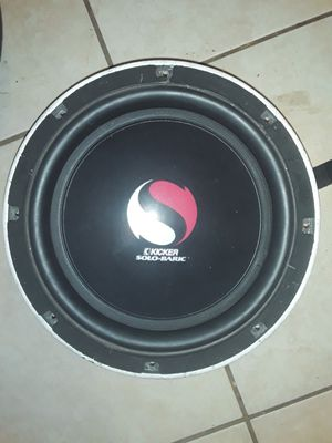 Photo 2 10 inch Kicker Solo-Baric speakers