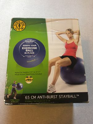 Gold's Gym Stayball 65cm Exercise Ball or desk ball for Sale in Washington, DC