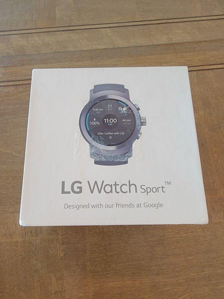LG Watch Sport W280A 45.4mm Titanium Stainless Steel Case Black Classic