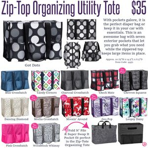 Thirty One Zip To Organizing Utility Tote For Sale In Lafayette In