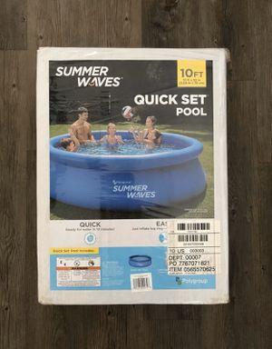 Photo Summer Waves 10' x 30 Quick Set Inflatable Above Ground Pool with Filter Pump