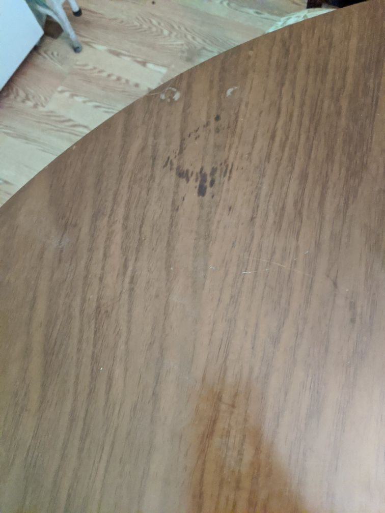 Mid century dining room table w/4 chairs
